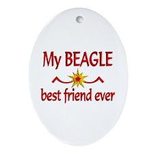 Beagle Best Friend Ornament (Oval)