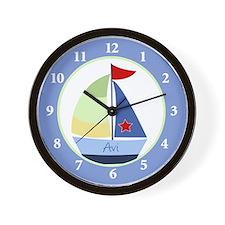 Nautical Sailboat Avi Clock Wall Clock