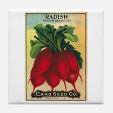 French Breakfast Radish Seed Packet A Tile Coaster