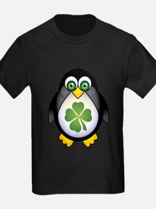 Green Irish Penguin T-Shirt
