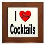 I Love Cocktails Framed Tile