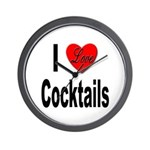 I Love Cocktails Wall Clock