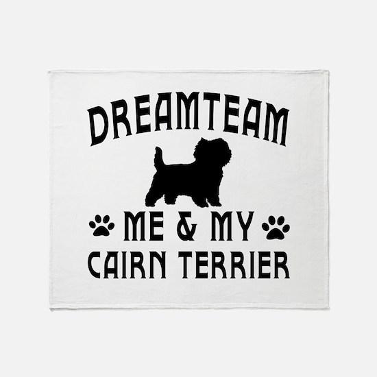 Cairn Terrier Dog Designs Throw Blanket