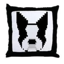 8-Bit Boston Terrier Throw Pillow