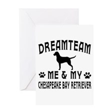 Chesapeake Bay Retriever Dog Designs Greeting Card
