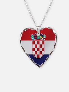 Croatian National Flag Necklace