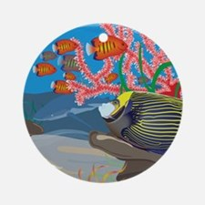 Aquarium reef square Ornament (Round)