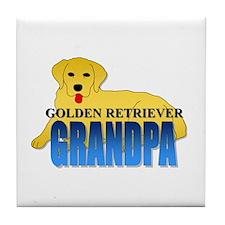 Golden Retriever Grandpa Tile Coaster