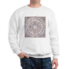 Medieval artwork compass rose Sweatshirt