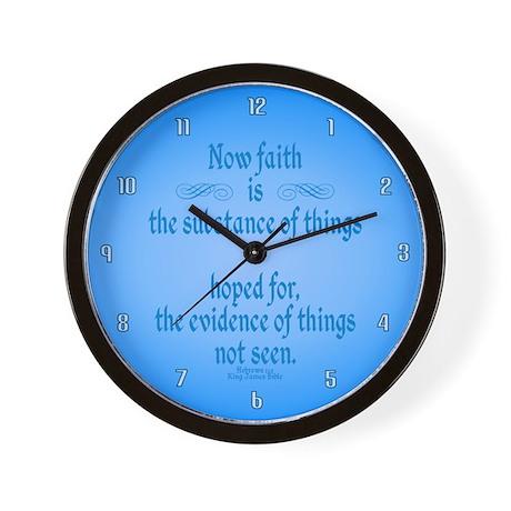 Hebrews 11 1 Scripture Wall Clock by KingJamesBibleVerses