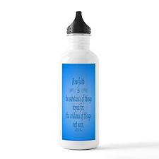 Hebrews 11 1 Scripture Water Bottle