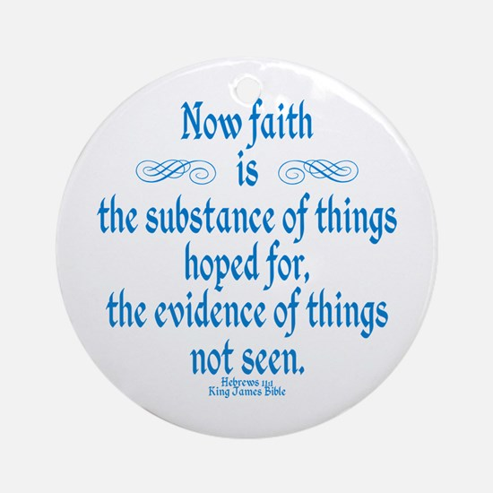 Hebrews 11 1 Scripture Ornament (Round)