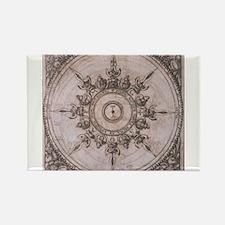 Antique Wind Rose Compass Design Rectangle Magnet