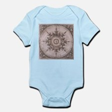 Antique Wind Rose Compass Design Body Suit