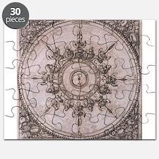 Antique Wind Rose Compass Design Puzzle