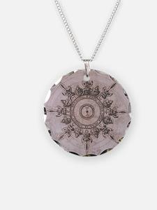 Antique Wind Rose Compass Design Necklace