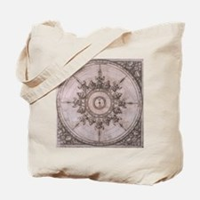 Antique Wind Rose Compass Design Tote Bag
