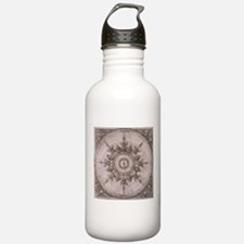 Antique Wind Rose Compass Design Water Bottle