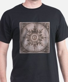 Antique Wind Rose Compass Design T-Shirt