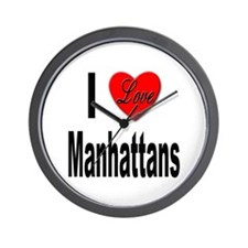 I Love Manhattans Wall Clock