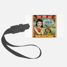 Retro Chinese Girl Label Luggage Tag