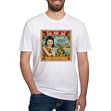 Retro Chinese Girl Label T-Shirt