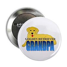 "Golden Retriever Grandpa 2.25"" Button"