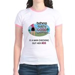 Behind Every Good Woman Jr. Ringer T-Shirt