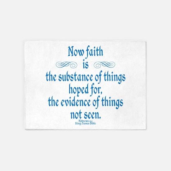Hebrews 11 1 Scripture 5'x7'Area Rug