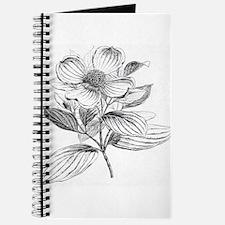 Dogwood flower vintage artwork Journal