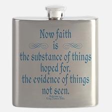 Hebrews 11 1 Scripture Flask