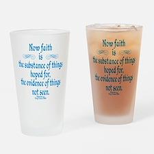 Hebrews 11 1 Scripture Drinking Glass