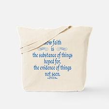 Hebrews 11 1 Scripture Tote Bag