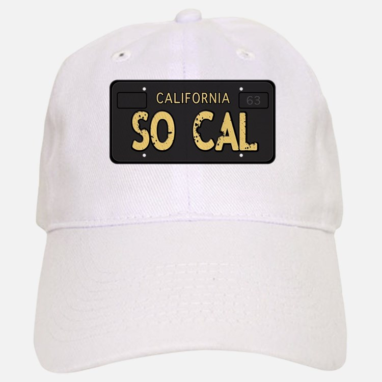 Old socal license plate design Baseball Baseball Baseball Cap