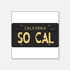 Old socal license plate design Sticker