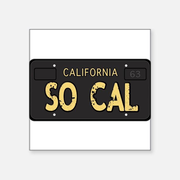 Old socal license plate design Sticker