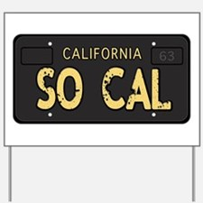 Old socal license plate design Yard Sign