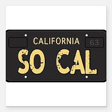 Old socal license plate design Square Car Magnet 3