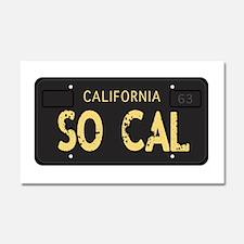 Old socal license plate design Car Magnet 20 x 12