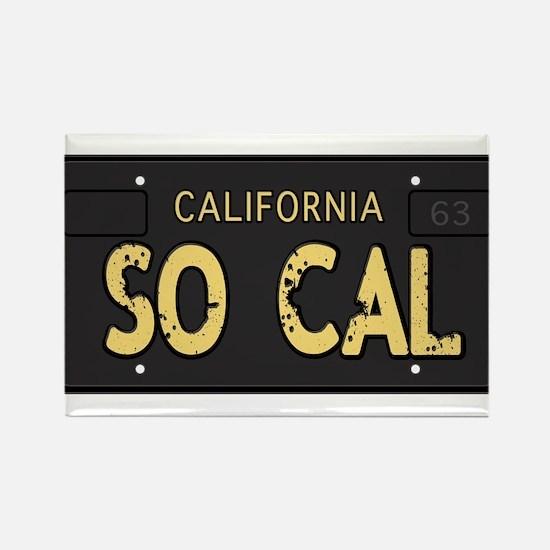 Old socal license plate design Rectangle Magnet