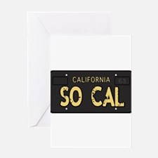 Old socal license plate design Greeting Card