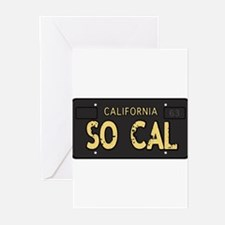 Old socal license plate design Greeting Cards (Pk