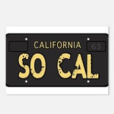 Old socal license plate design Postcards (Package