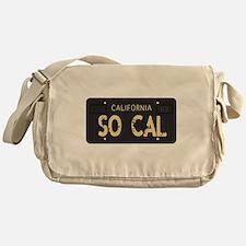 Old socal license plate design Messenger Bag