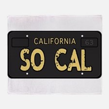 Old socal license plate design Throw Blanket