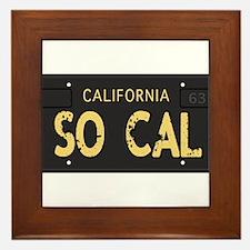 Old socal license plate design Framed Tile
