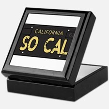 Old socal license plate design Keepsake Box