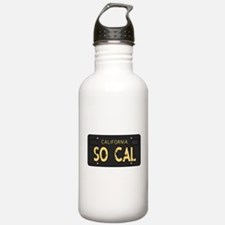 Old socal license plate design Water Bottle