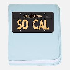 Old socal license plate design baby blanket