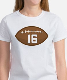 Football Player Number 16 Tee